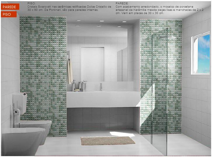 Dicas para revestir piso e parede dos Banheiros  Blog Muraski Imóveis -> Decoracao De Banheiro Piso E Azulejo